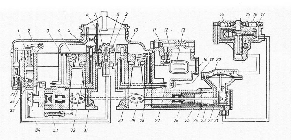 Схема карбюратора К-135МУ и