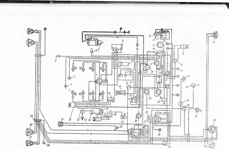 электрическая схема газ - 52