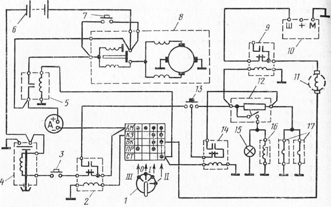 Электрическая схема пускового