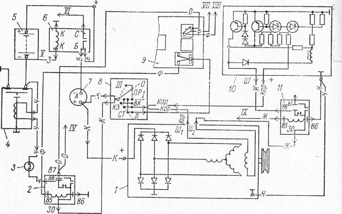 Схема соединения источников