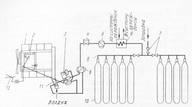 Принципиальная схема топливной