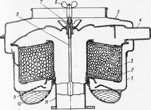 Схема воздушного фильтра ВМ-16