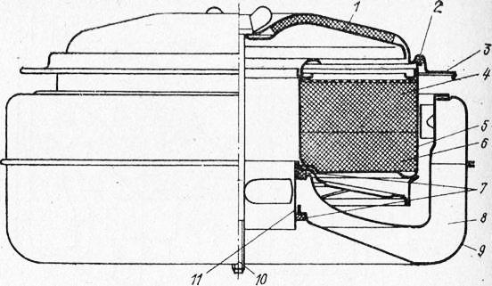 Схема воздушного фильтра