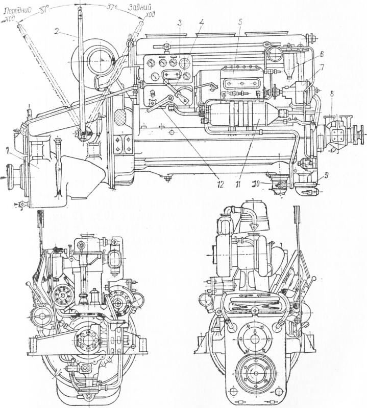 работой двигателя;