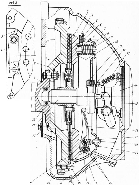 Схема привода сцепления зил 431410 фото 855