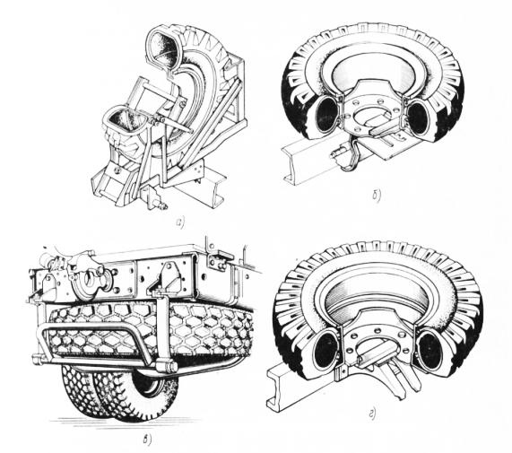 Установка запасного колеса для