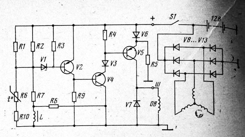 При запирании транзистора V4