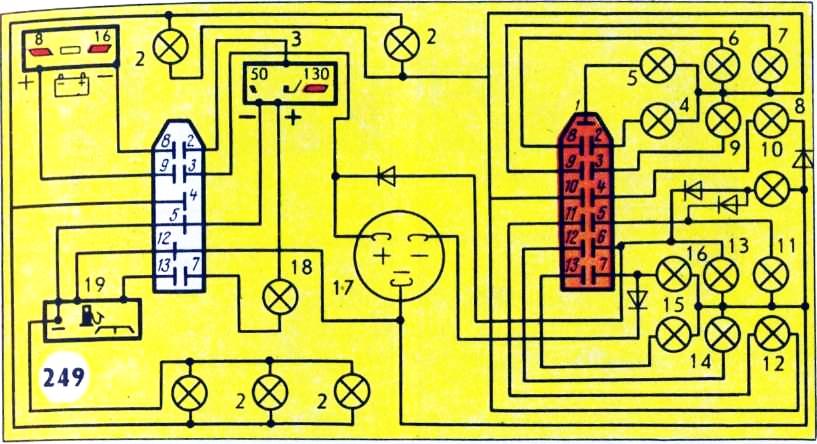 Схема соединений комбинаций