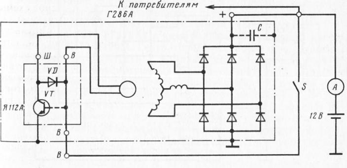 Схема генератора Г286А с