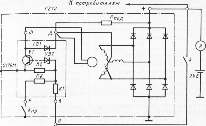 Рис. 4 Схема генератора Г222 с