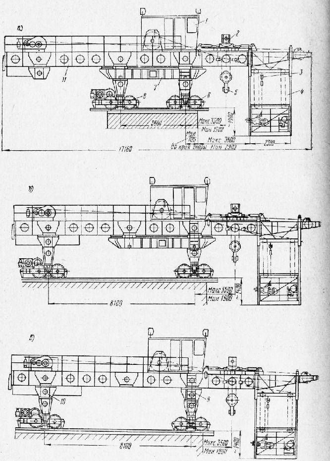 Схема крана типа СПК-65: а