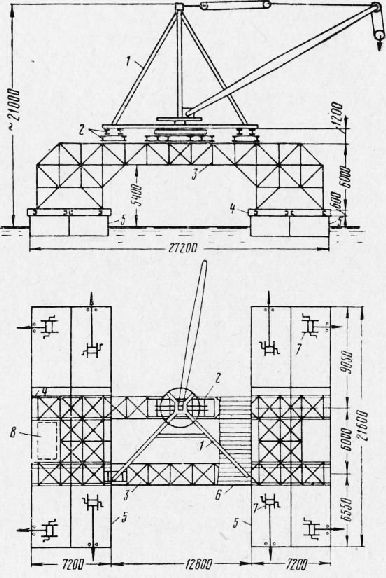 Схема установки деррик-крана