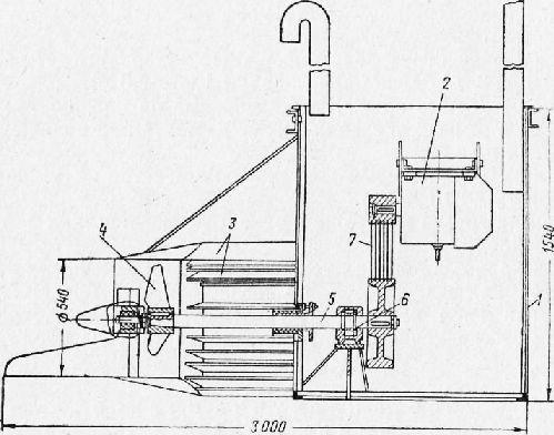 Схема потокообразователя: 1