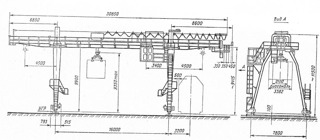 Схема крана КК-5