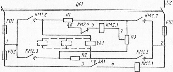 Электрическая схема магнитного