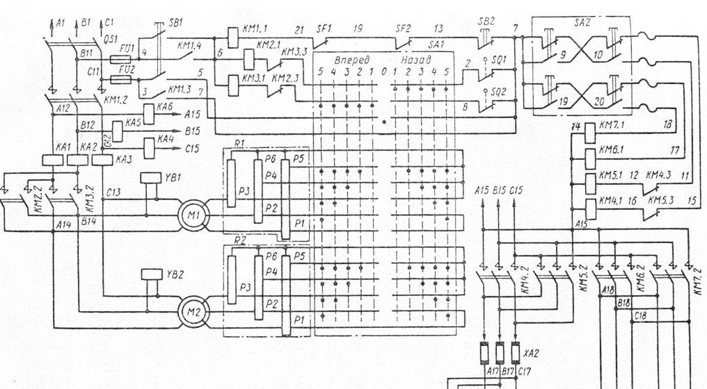 Электрическая схема крана ККТ-