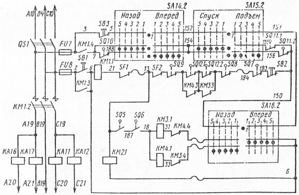 Электрическая схема цепей