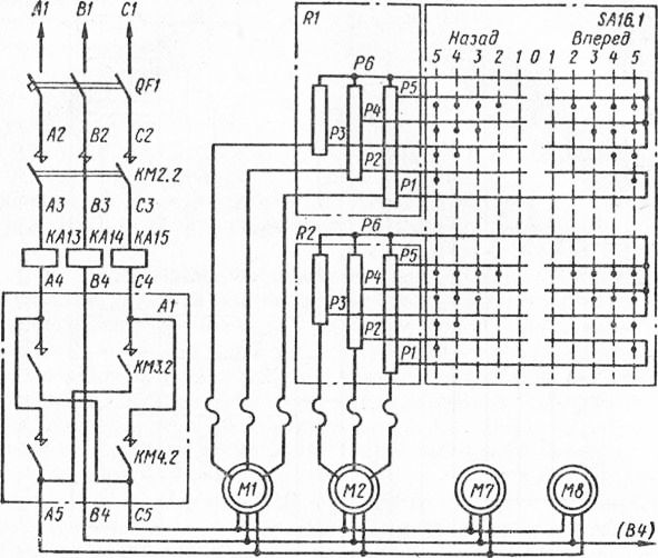 Электрическая схема привода
