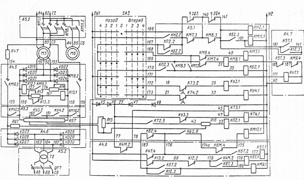скачать Электрическая принципиальная схема крана КСК-32