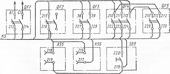 Схема соединений силового