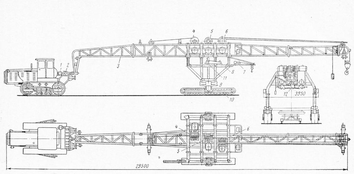 Схема тракторного портального