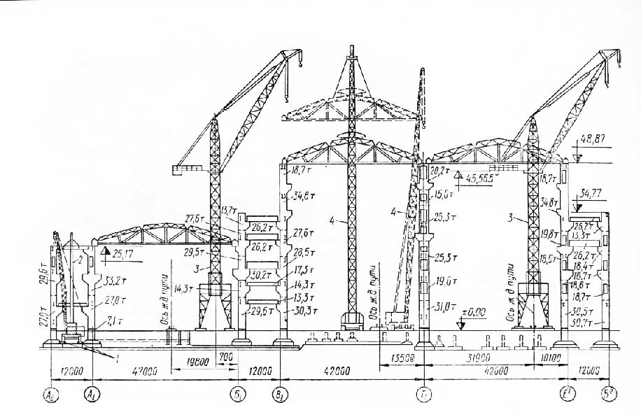 Схема монтажа конструкций