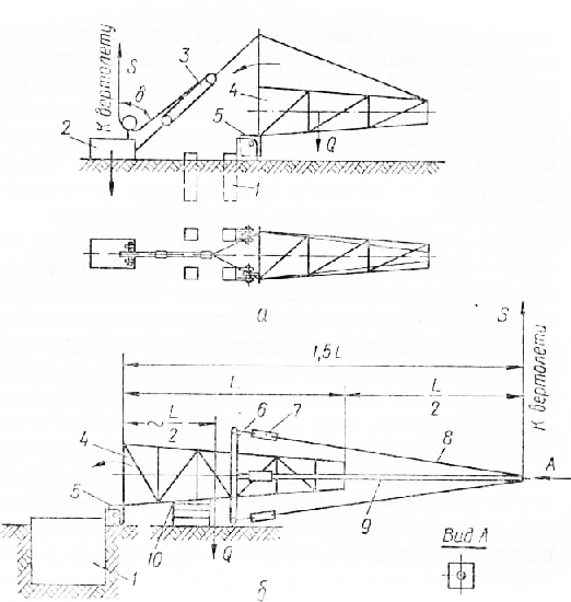 Схемы монтажа конструкций опор