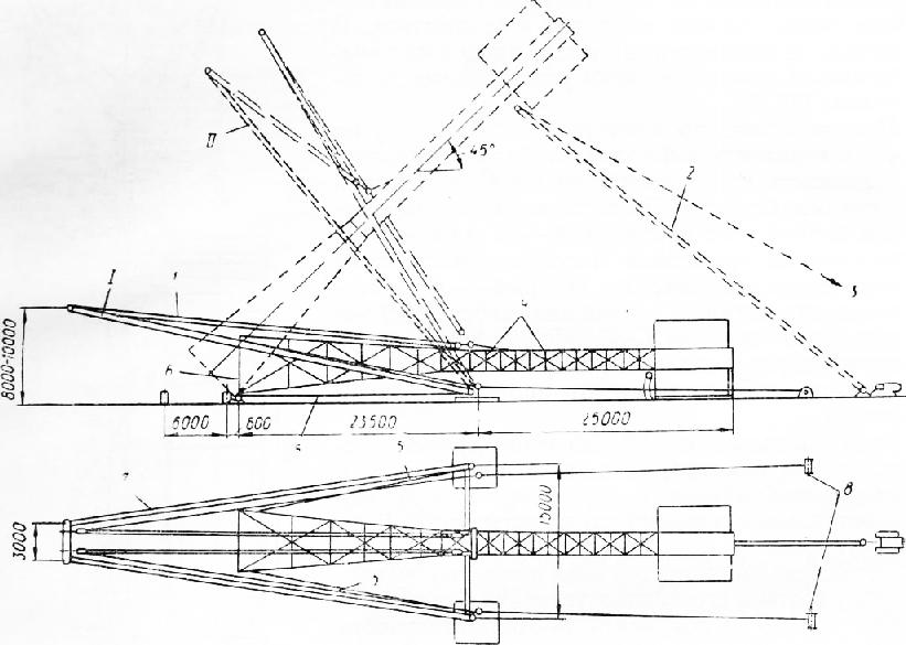 Схема монтажа прожекторной