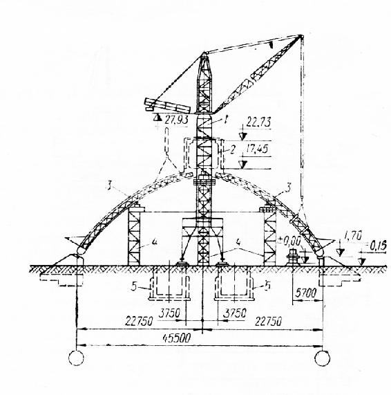 Схема монтажа здания склада