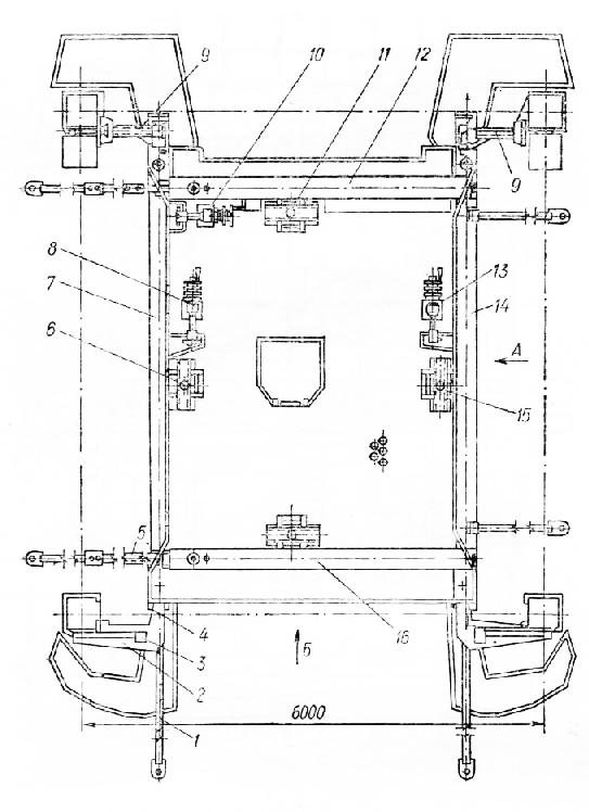 Схема рамно-шарннр-ного