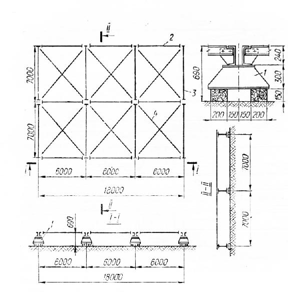Схема стеллажей для