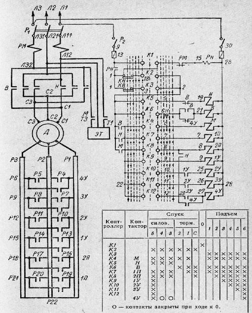 Схема управления с магнитным