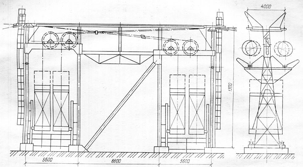 Схема двойной натяжной станции