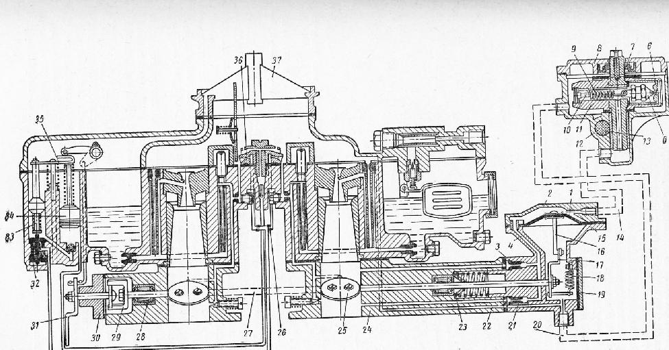схема карбюратора К-126Б о
