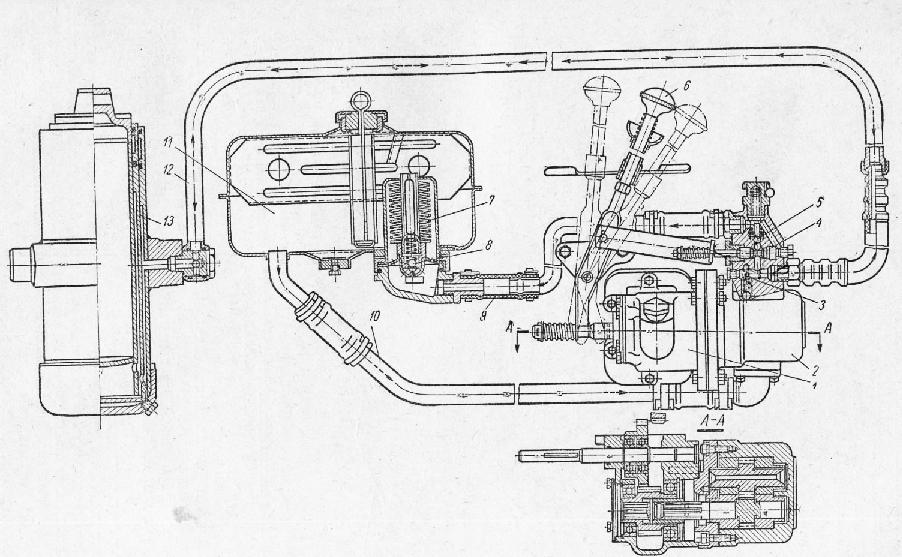 Схема гидронасоса зил