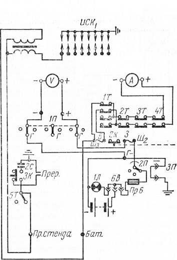 Схема испытания трансформатора