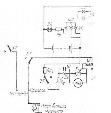 Схема проверки генератора МТЗ