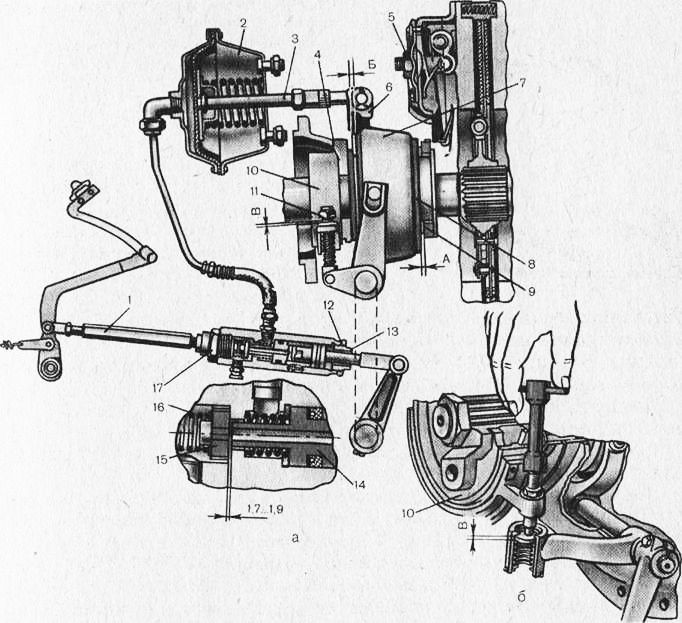 Т-150К: а—общий вид;