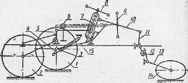 Схема механизмов прицепного