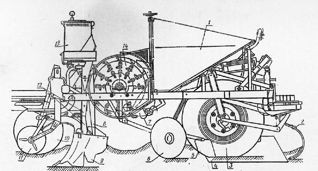14 — вычерпывающий аппарат