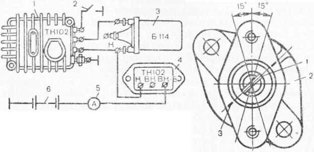 Схема проверки транзисторного