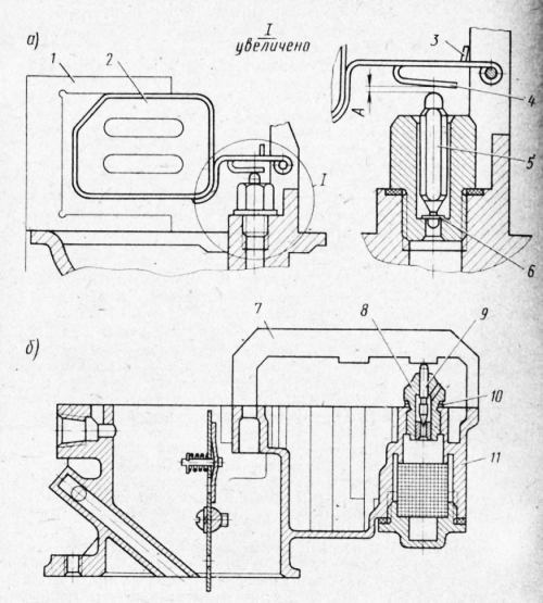карбюратора К-126Б; б