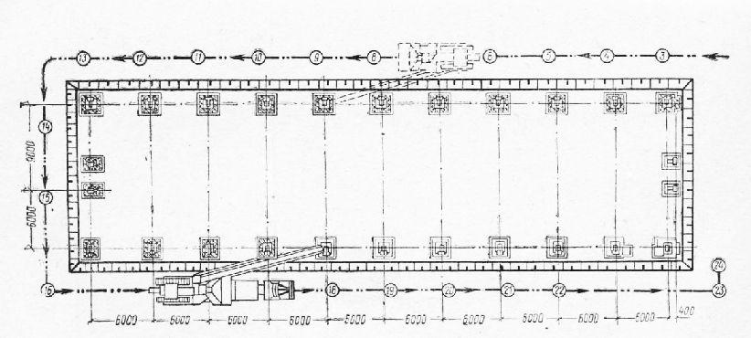 Схема бетонирования ростверков