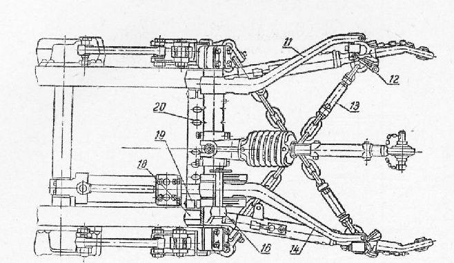 Навеска на трактор т-150 схема
