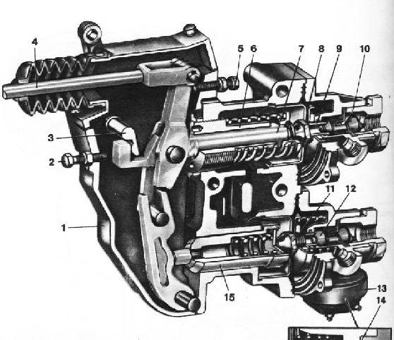 Регулятор давления трактора МТЗ-80, МТЗ-82, устройство.