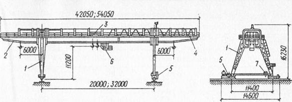 Козловой кран КК-12,5 1