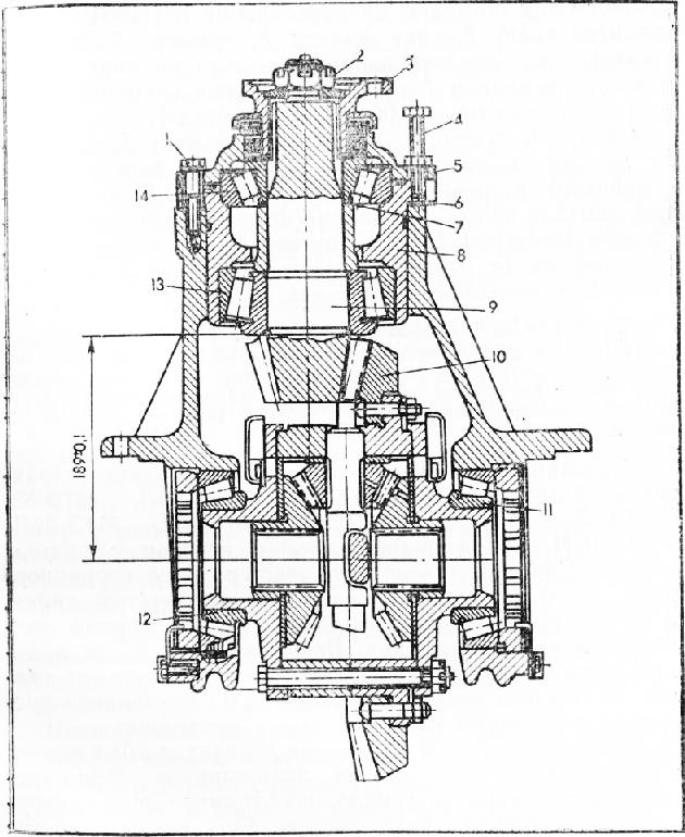 трактора Т-150К: 1 — болт;