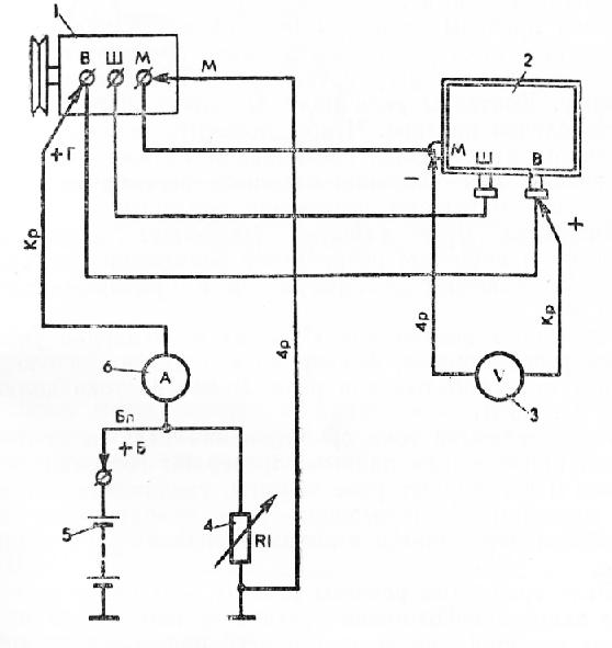 Схема проверки регулятора