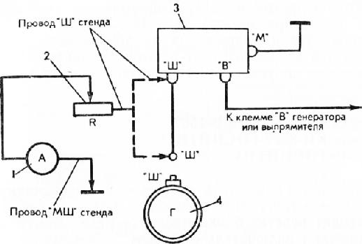 Схема проверки реле зашиты