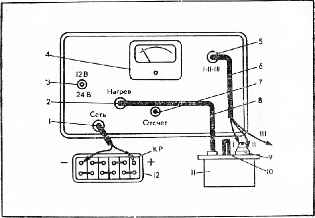 Схема проверки датчика